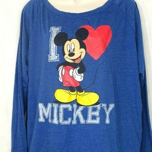 Disney I Heart Mickey Mouse Graphic T-Shirt XL